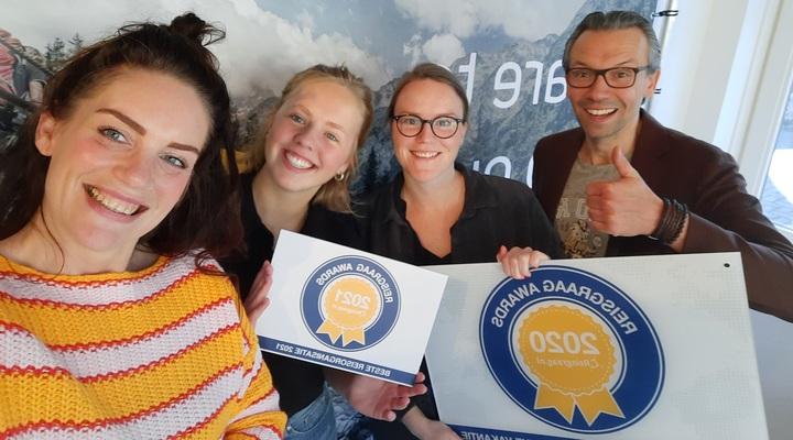 Team noSun met Reisgraag Award