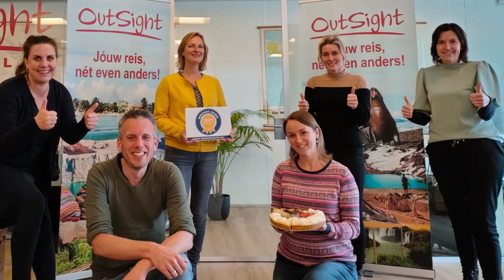 Team OutSight Travel met Reisgraag Award