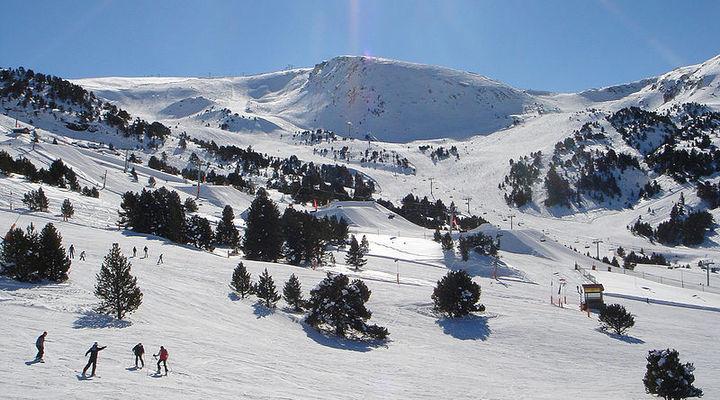 Het zonnige skigebied Grandvalira