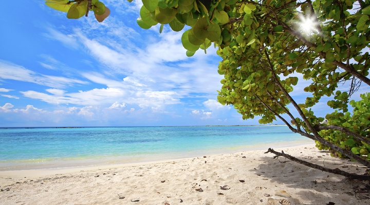Prachtig strand op Aruba