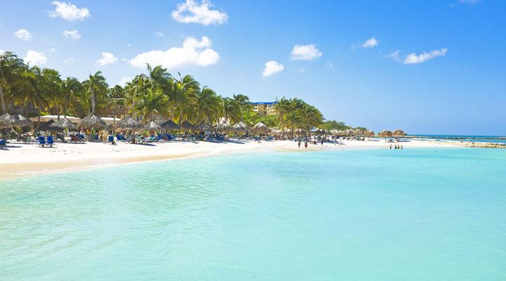 Het strand van Aruba