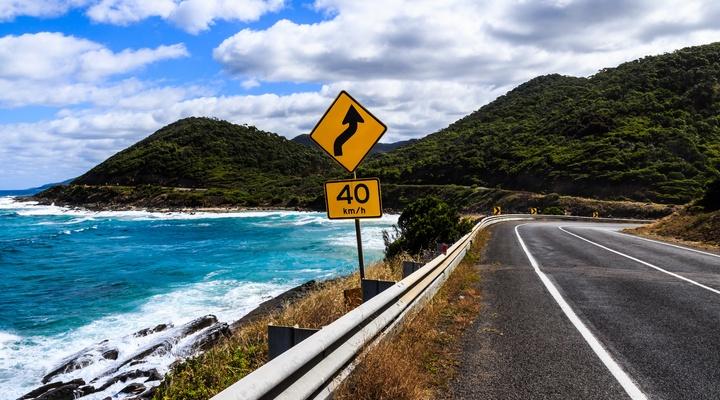 Kustweg in Australië