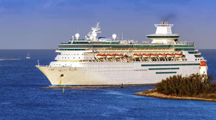 Cruiseschip in de Bahama's
