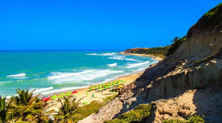 Paradijselijk strand in Pipa