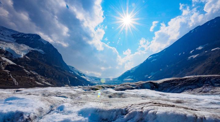 Gletjser in skigebied Jasper