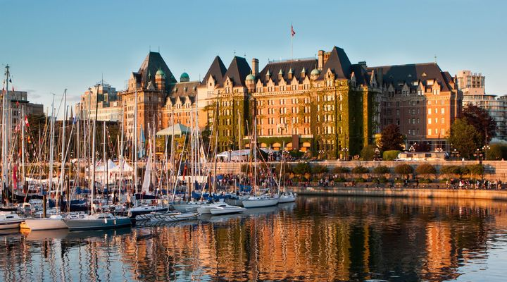 De stad Victoria in Canada