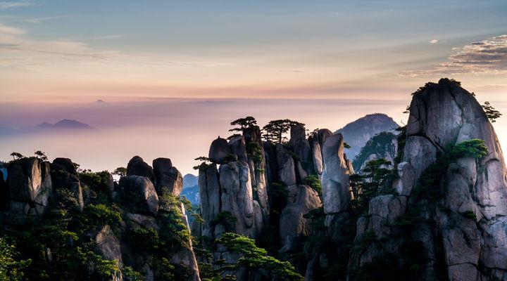 De Yellow Mountains in China