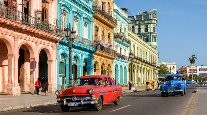Het kleurrijke Cuba met de bekende oldtimers
