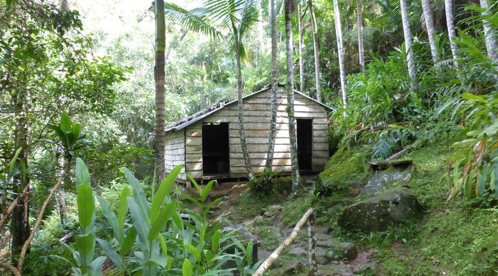 Een van de hutjes die we bezocht hebben
