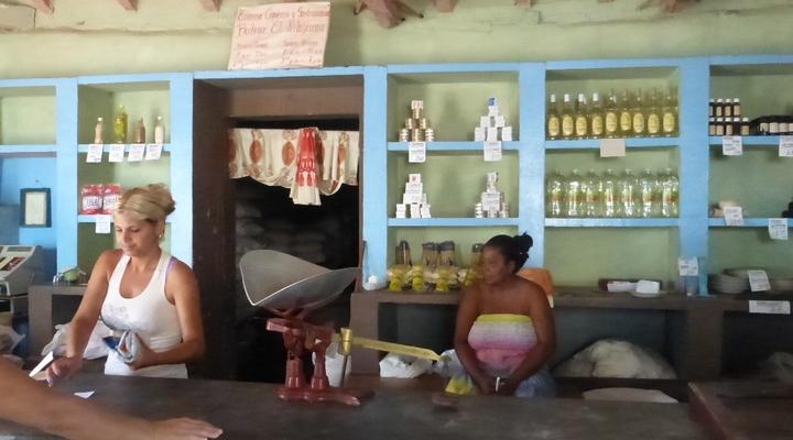 Een winkel in Cuba