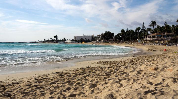 Het strand van Cyprus
