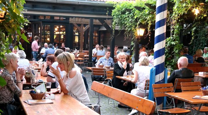 De biertuin in Hannover