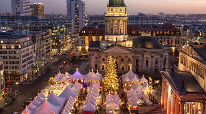 De kerstmarkt in Berlijn