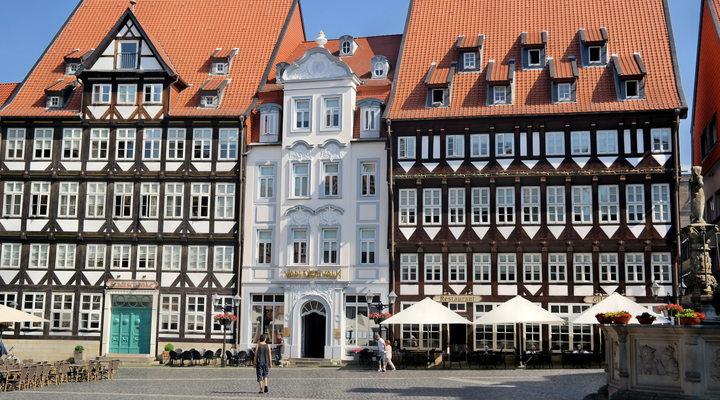 Het marktplein van Hildesheim