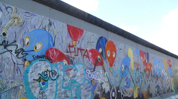 Graffiti op de Berlijnse Muur