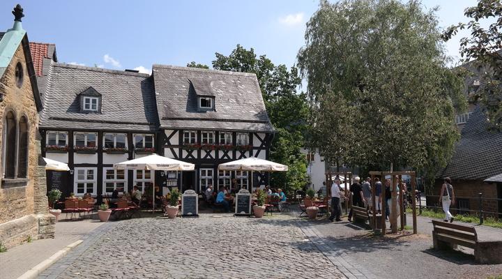 Het terras in Goslar