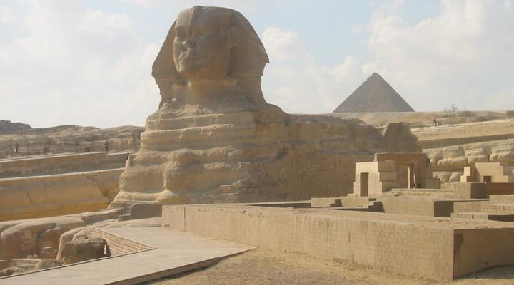 Een prachtig monument in Egypte