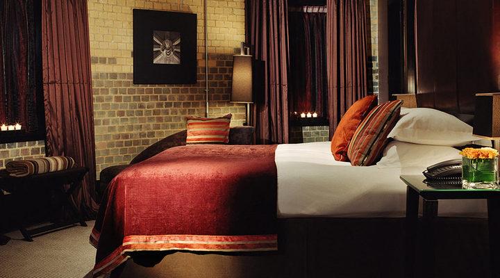 Een van de slaapkamers van Malmaison Oxford