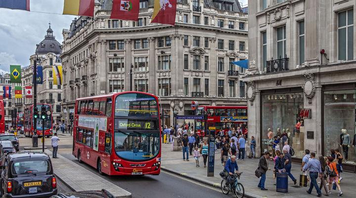 Oxford Street in het centrum van Londen