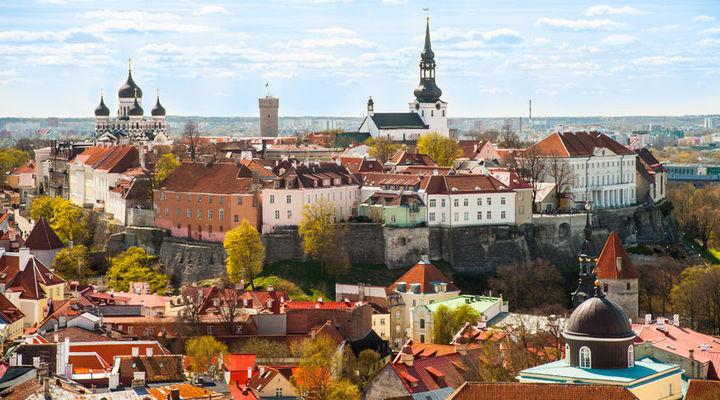 De oude stad van Tartu