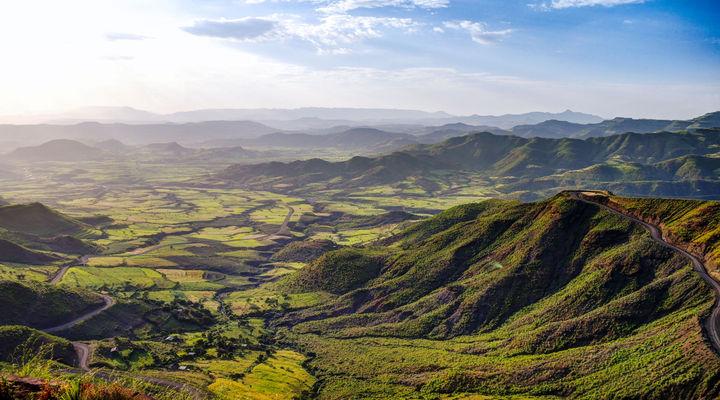 Panorama van Semien Mountains