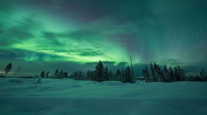Het Noorderlicht in Fins Lapland