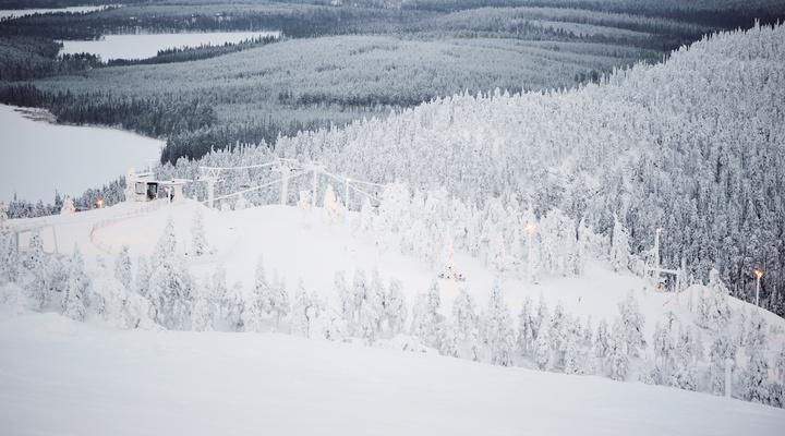 Skigebied Ruka in Finland