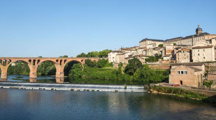 De brug over de rivier de Tarn