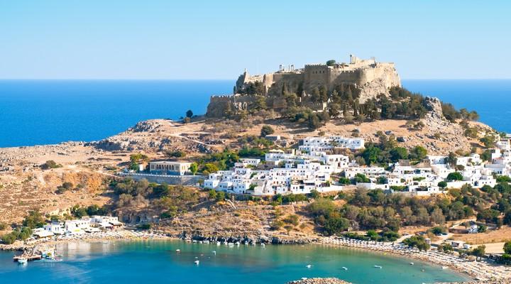 Het Griekse Lindos op Rhodos