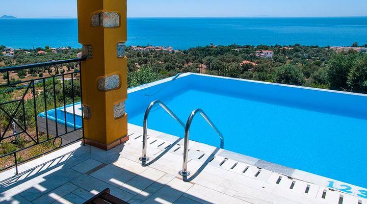 Geweldig uitzicht bij Eleonas Votsalakia op Samos