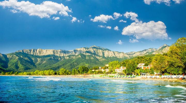 Golden Beach op het Griekse eiland Thassos