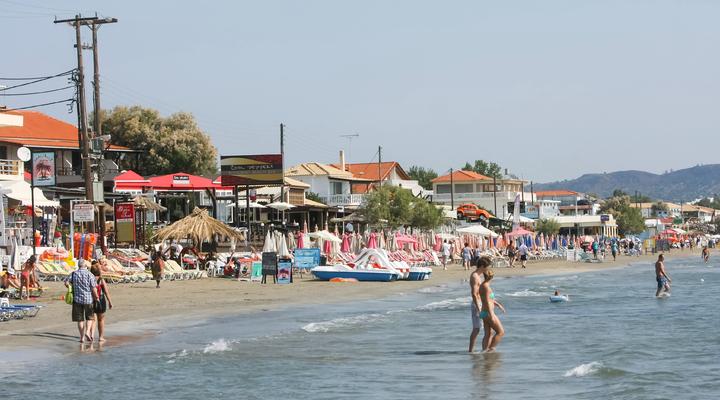 De stranden bij Laganas