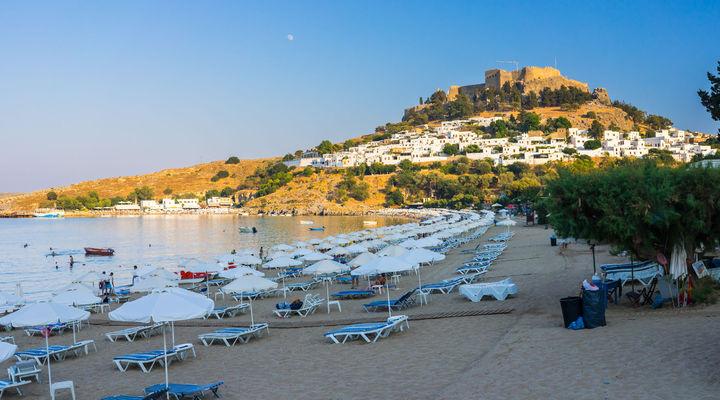 Het Griekse eiland Rhodos