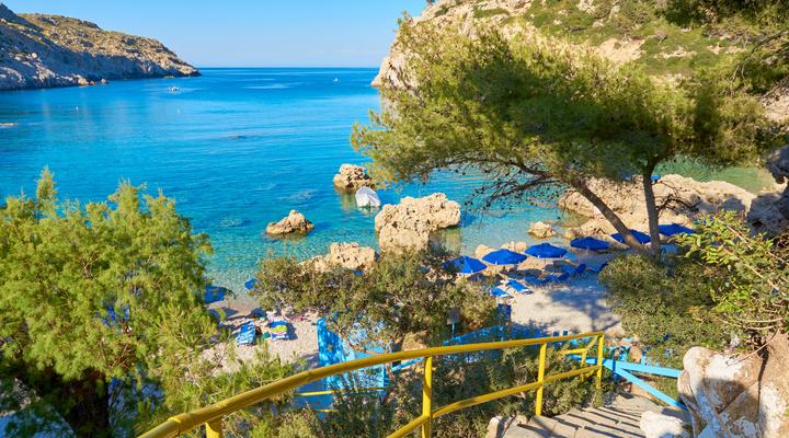 Een van de stranden in Griekenland