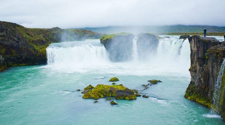 Godafoss waterval in het noorden van IJsland