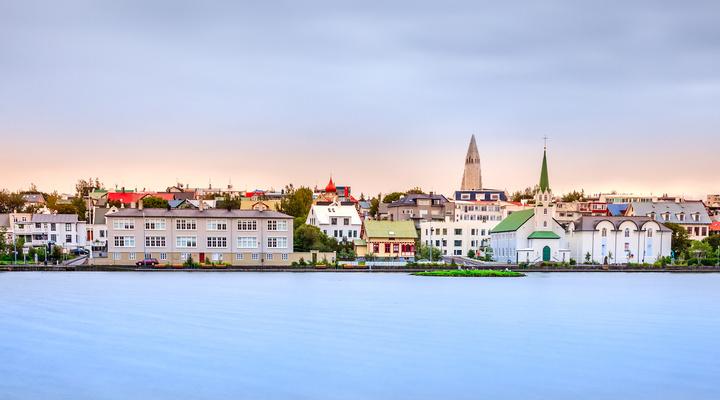 De IJslandse hoofdstad Reykjavik