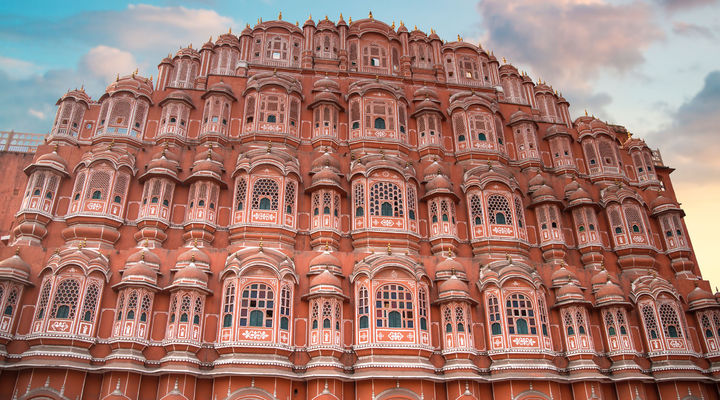 Paleiscomplex Hawa Mahal in Jaipur
