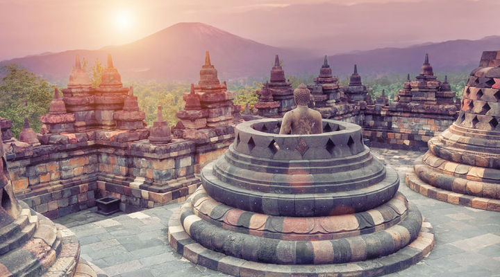 Populaire bestemming Djoser: Borobudur, Indonesië