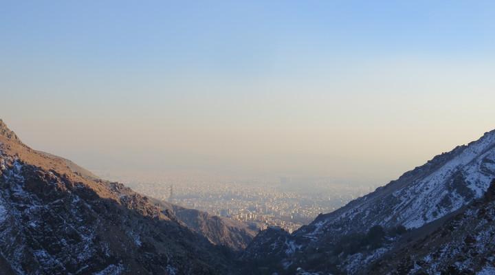 Uitzicht over Teheran