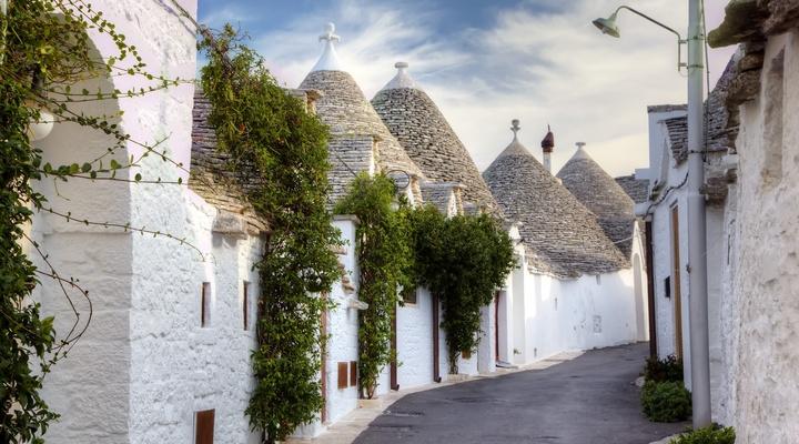 De beroemde trulli in Puglia