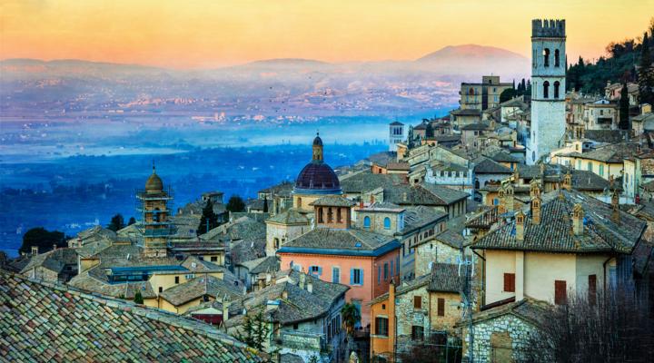 De heilige stad Assisi