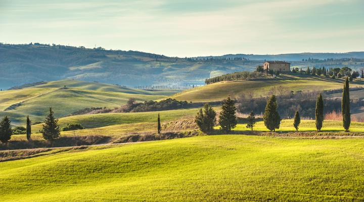 Het landschap van Toscane