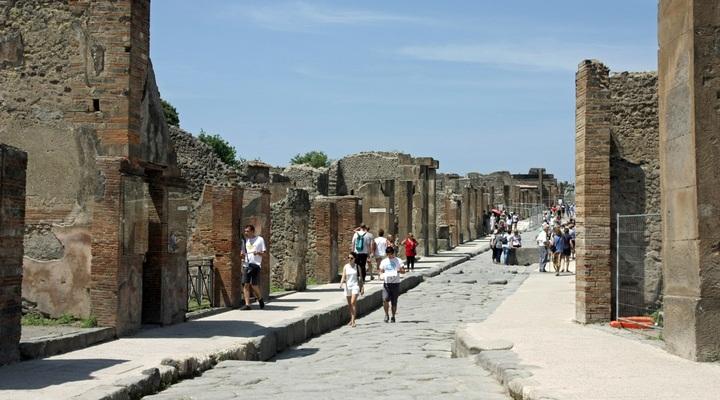 Winkelstraat in Pompeï