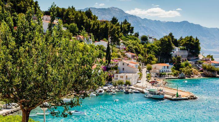 Adriatische baai in Kroatië