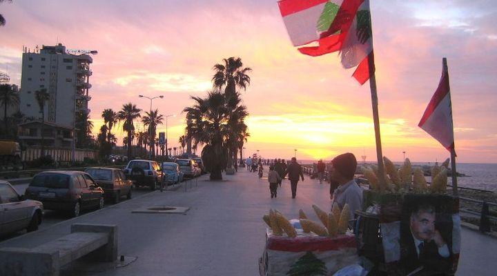 De stad Beiroet in Libanon