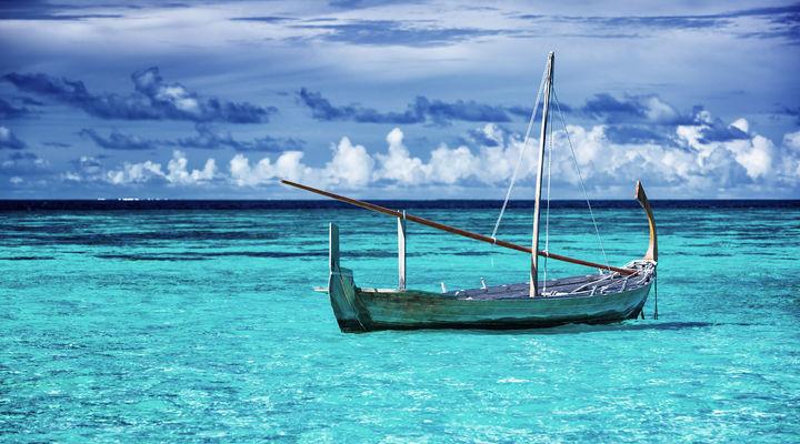 Vissersboot Malediven