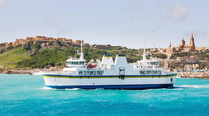 Met de ferry van Malta naar Gozo