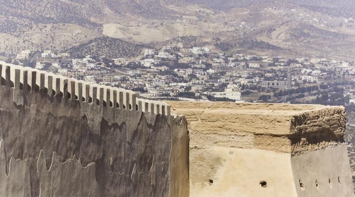 Uitzicht vanaf de Kasba, Agadir, Marokko