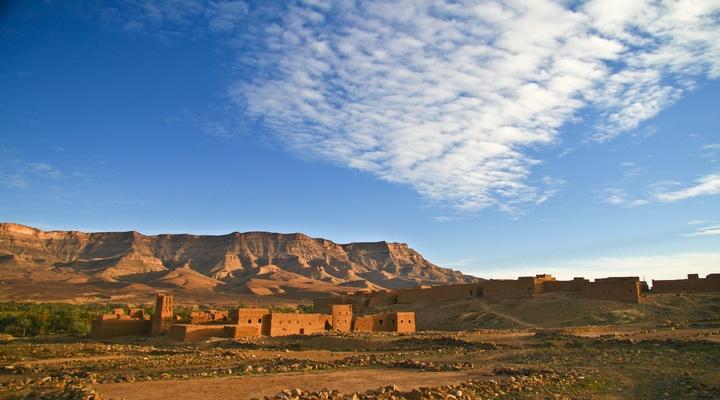 Kasba's in de Draâ vallei, Marokko