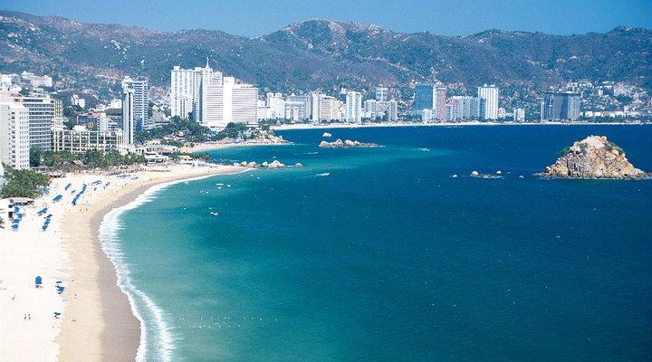 Het strand van Acapulco